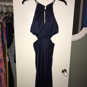 Long navy formal dress